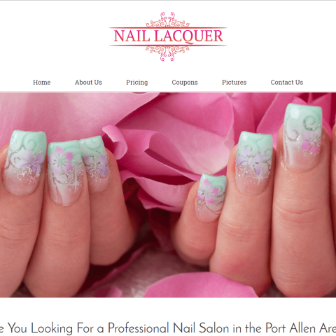 Professional, Clean, and Responsive Website for Nail Salon